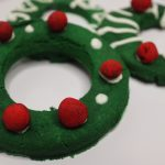 No Cookie Cutter Christmas Wreath Dog Cookies